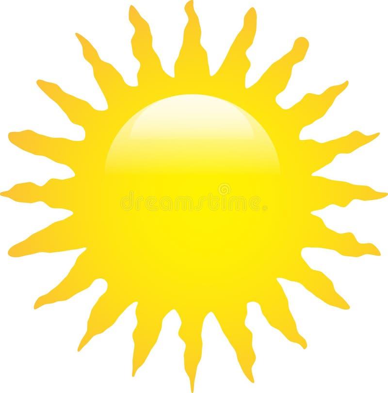 太阳光滑与之字形光芒 库存例证