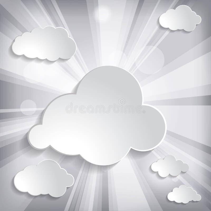 太阳光芒和云彩 皇族释放例证