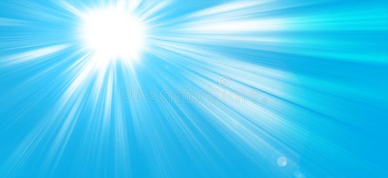 太阳光芒在天空蔚蓝_天堂 免版税库存图片