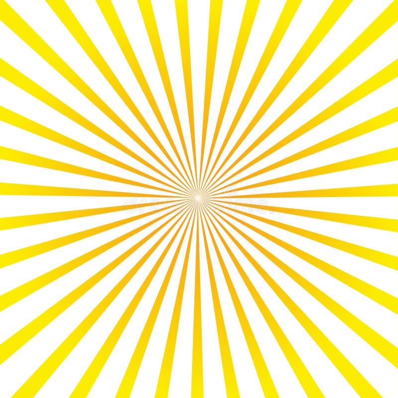 太阳光芒 背景发出光线星期日 也corel凹道例证向量 皇族释放例证