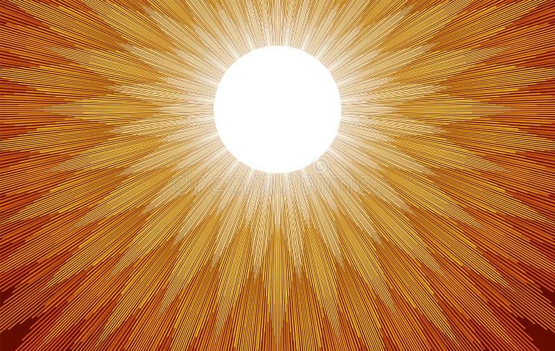 太阳光芒 皇族释放例证