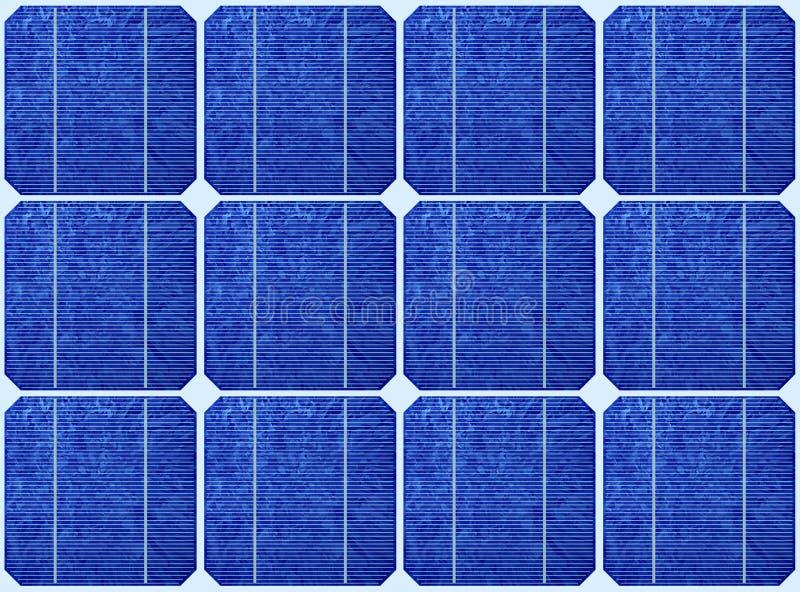 太阳列阵蓝色的面板 向量例证