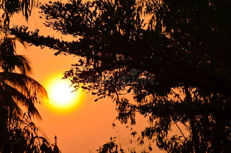 太阳升起在克莱尔谷 库存图片