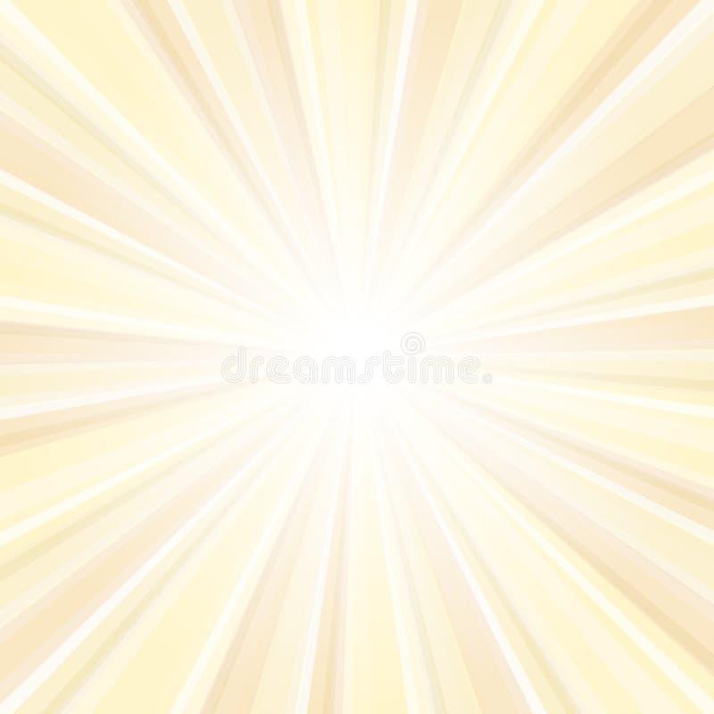 太阳发光的背景 向量例证