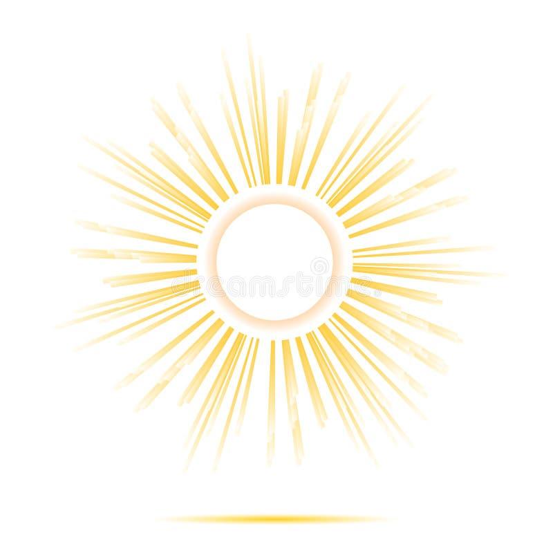 太阳发出光线圈子框架 库存例证