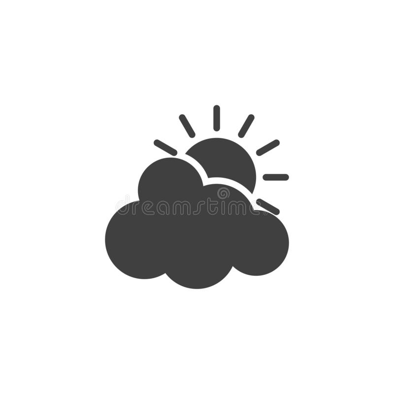 太阳和云彩传染媒介象 库存例证