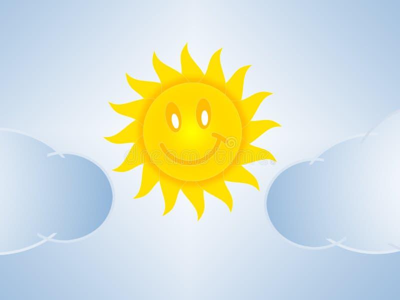 太阳和云彩 库存例证