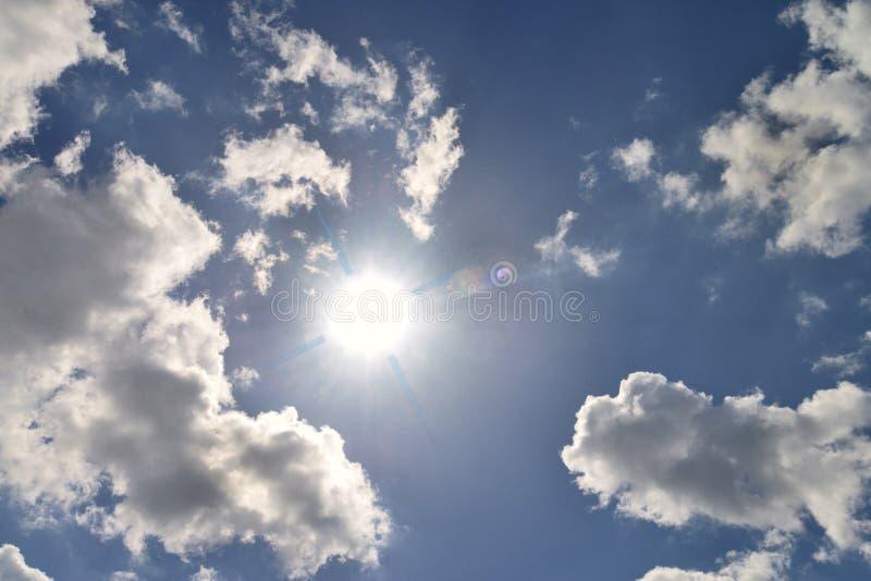 太阳和云彩 库存照片