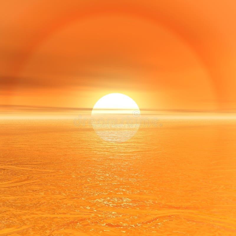 太阳和天空 图库摄影