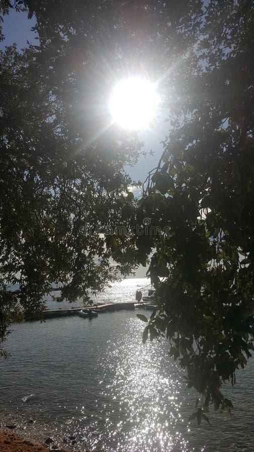 太阳和海运 免版税库存图片