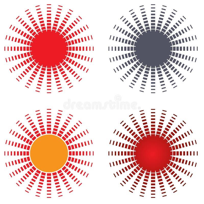 太阳商标设计 向量例证