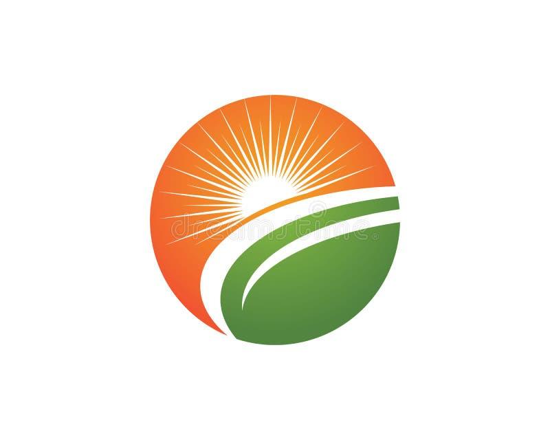 太阳商标象传染媒介模板 在天际的太阳 向量例证
