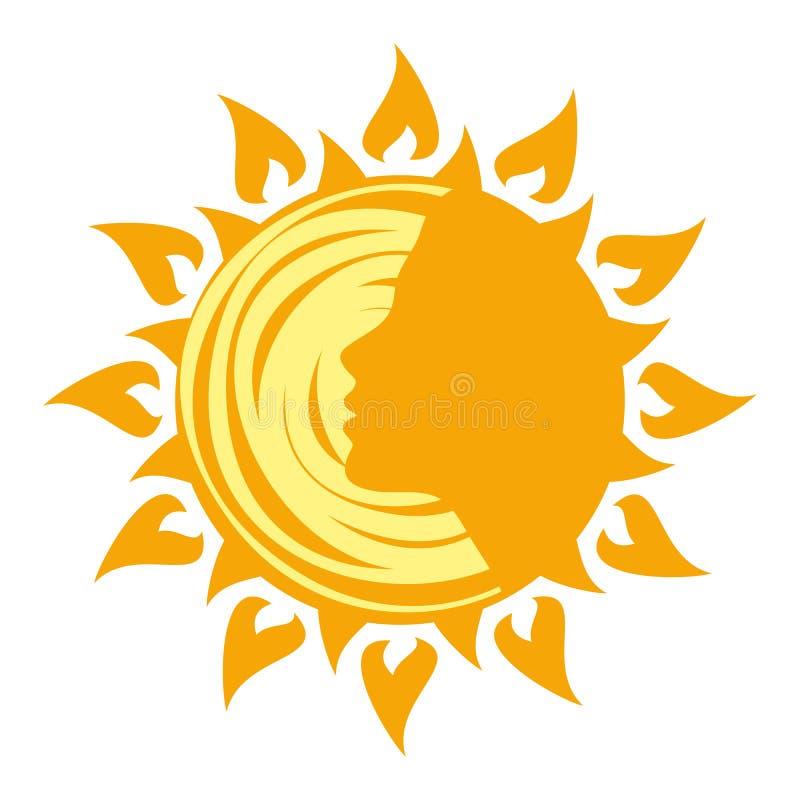 太阳商标 向量例证
