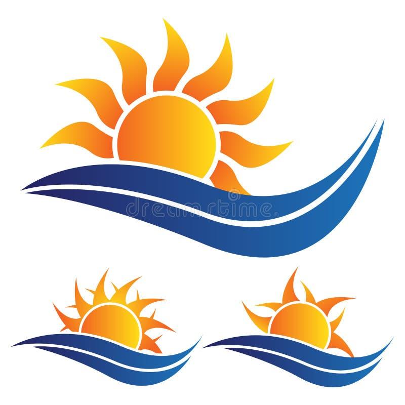 太阳商标 库存例证