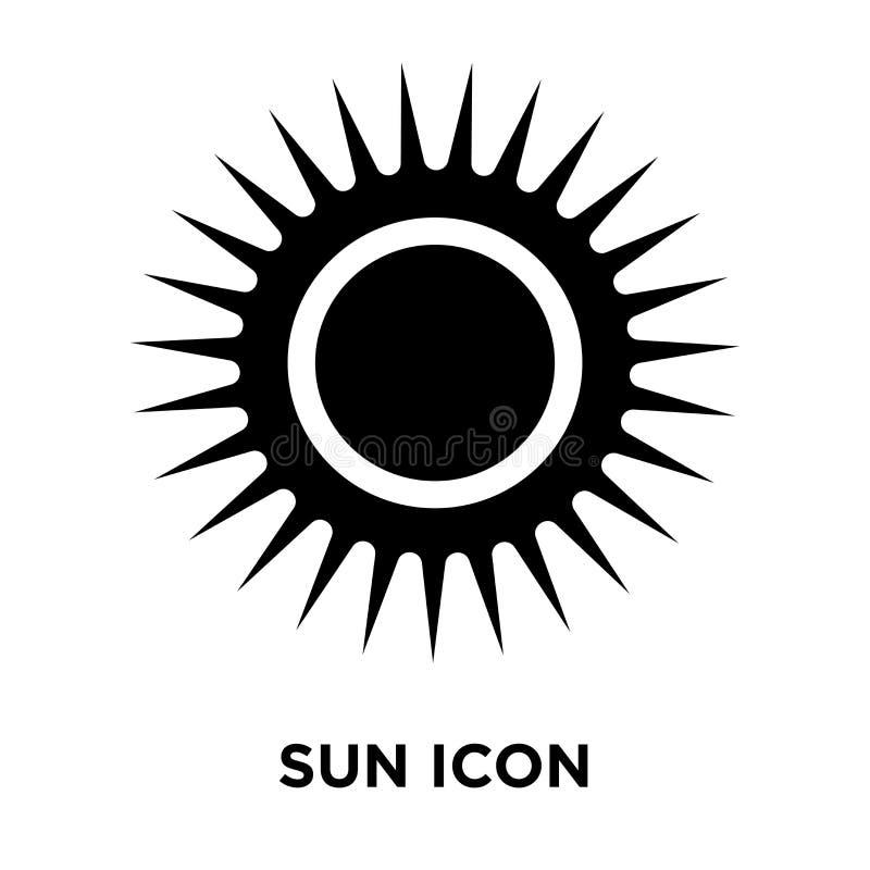 太阳在白色背景隔绝的象传染媒介, Su的商标概念 库存例证