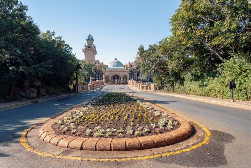 太阳城,失去的城市在南非 库存图片