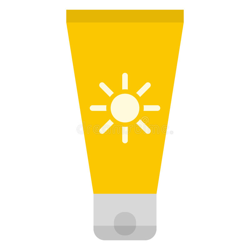 太阳奶油象 向量例证
