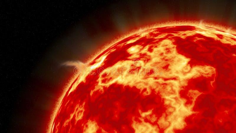 太阳如被看见从空间 皇族释放例证