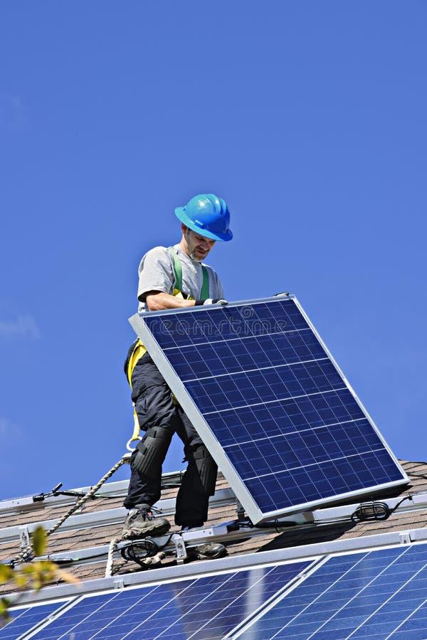太阳安装的面板 免版税图库摄影