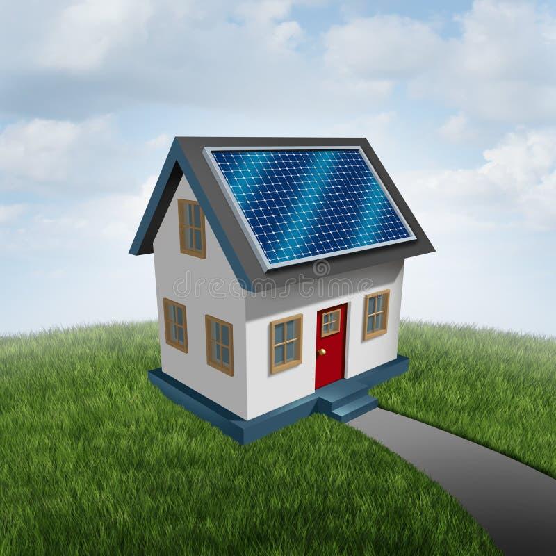 太阳屋顶清洁能源产业 向量例证