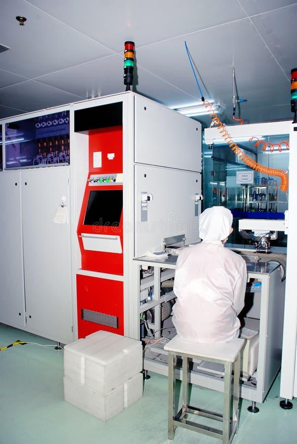 太阳工厂的硅 库存图片