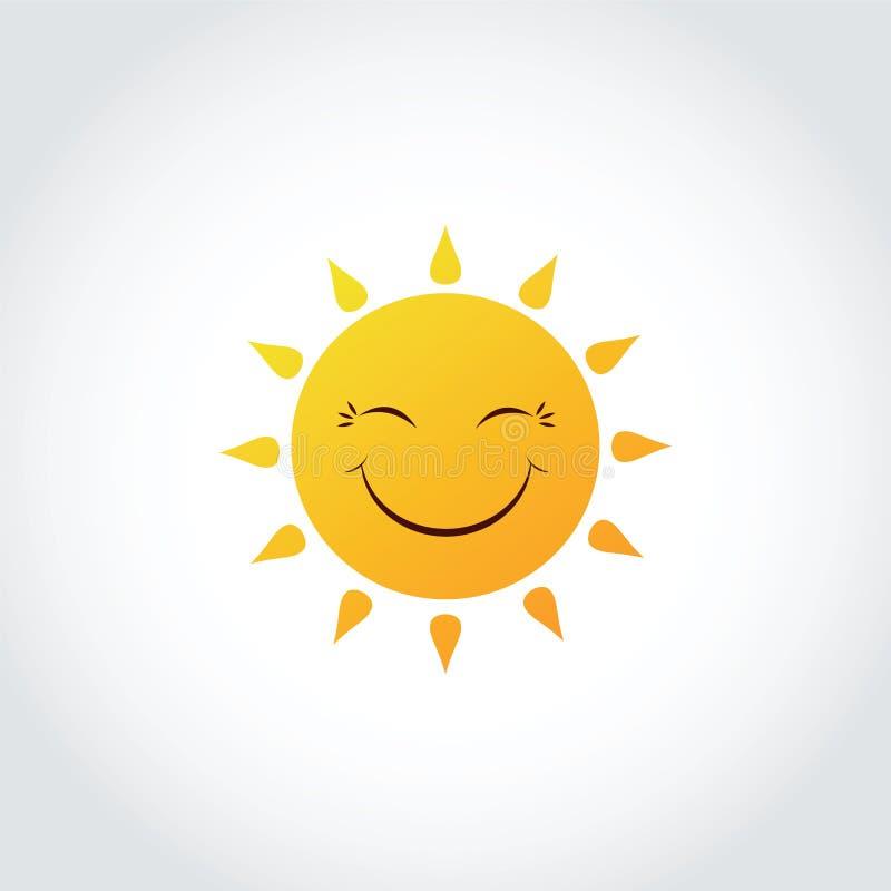 太阳微笑表示剪贴美术情感 传染媒介以图例解释者EPS 1 向量例证