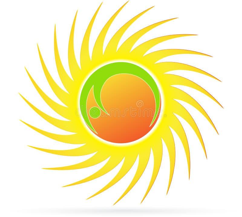 太阳徽标 向量例证