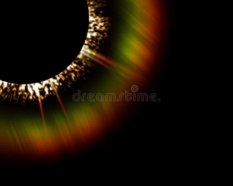 太阳数字式的火光 向量例证