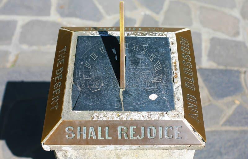 太阳时钟,克赖斯特切奇,新西兰 免版税库存图片