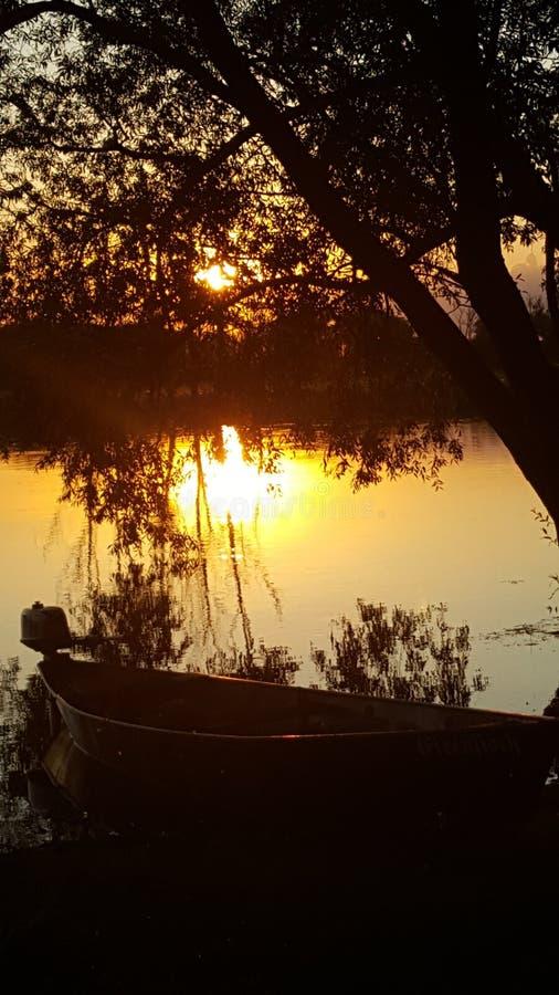 太阳晚上 库存图片