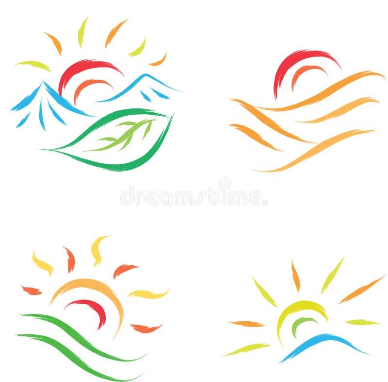 太阳标志 皇族释放例证