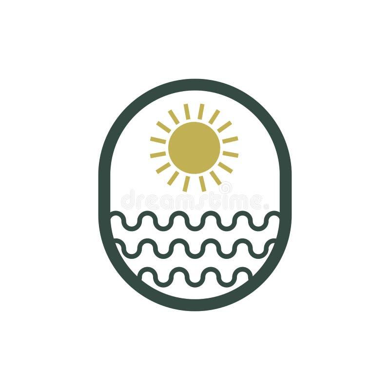 太阳海商标传染媒介设计 皇族释放例证