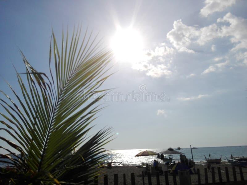 太阳海滩 库存照片