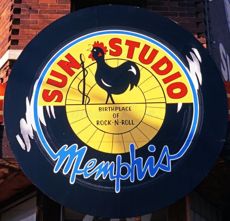 太阳演播室标志,孟菲斯 免版税库存照片