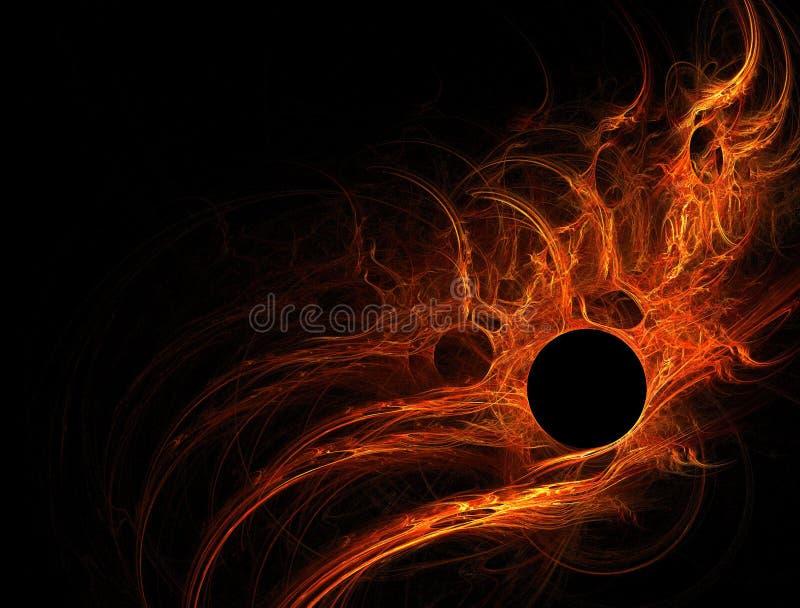 太阳火光的橙红 向量例证