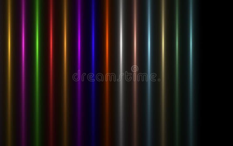 太阳爆炸照明设备火光的抽象图象 向量例证