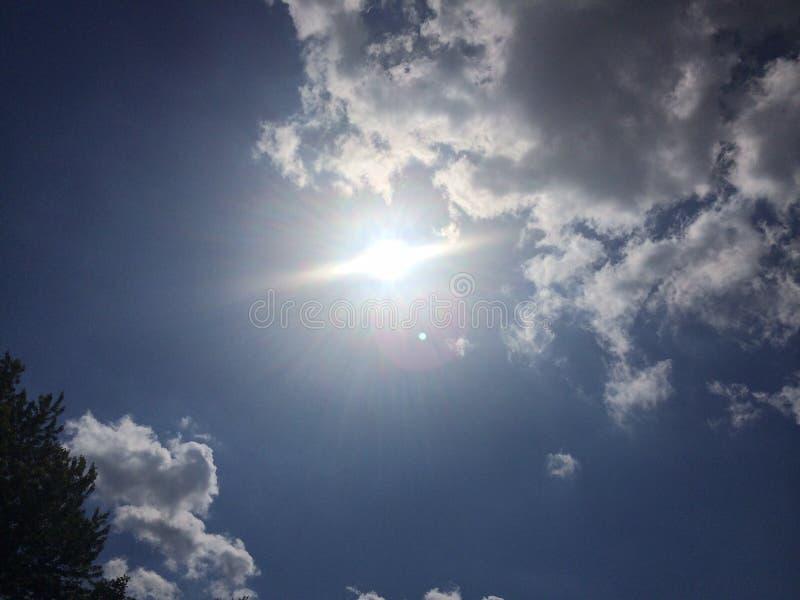 太阳爆炸 免版税库存照片