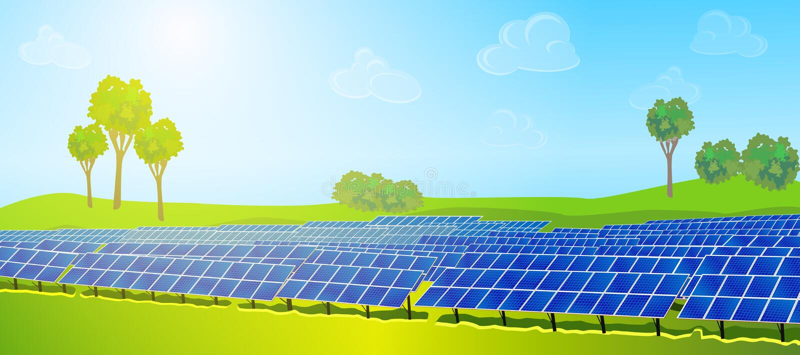 太阳现代的面板 库存例证