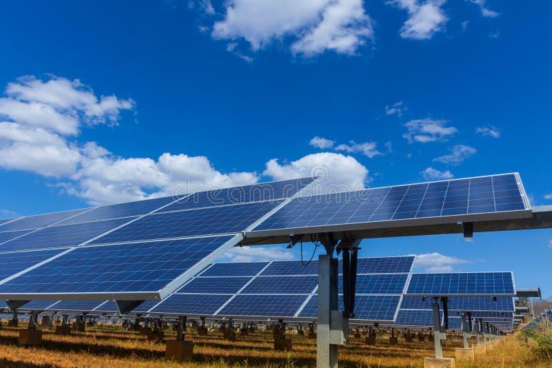 太阳电池板、供选择的电能承受的资源的来源,概念和这是可能引起的一个新的系统 图库摄影