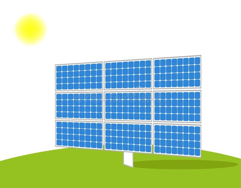 太阳电池板传染媒介 库存图片