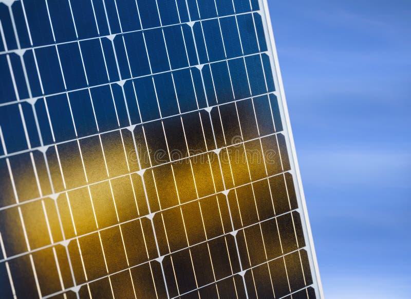 太阳电池板太阳能电池节能生态产业概念 免版税图库摄影