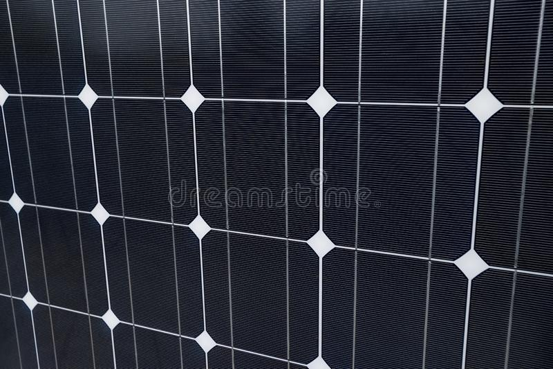 太阳电池板特写镜头作为背景 免版税库存图片