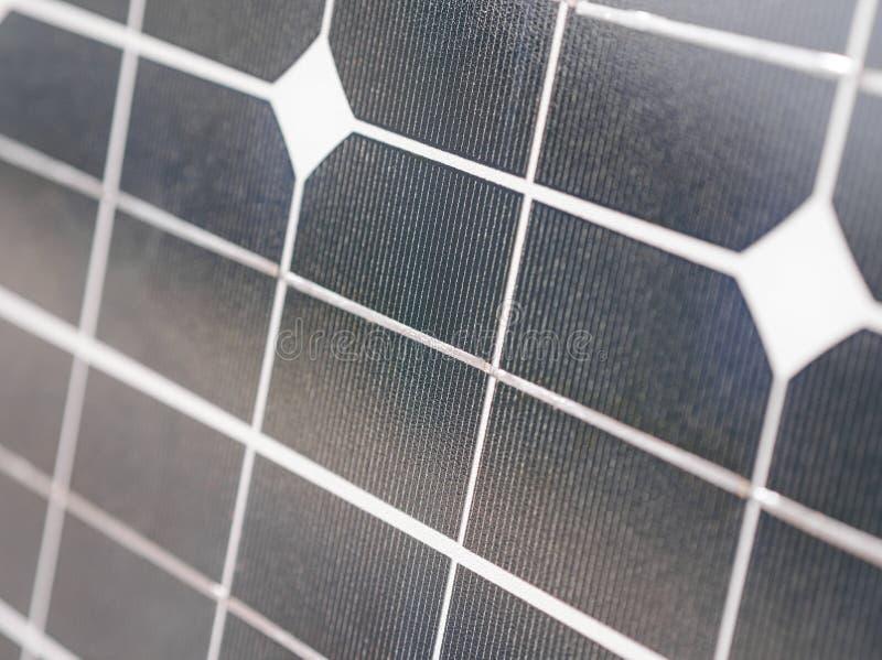 太阳电池板特写镜头 库存照片