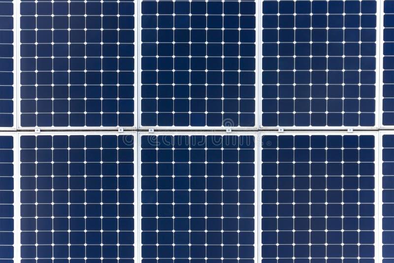 太阳电池板背景 特写镜头 库存照片