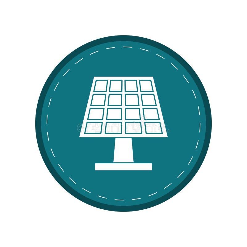 太阳电池板能量生态干净的绿色圈子 向量例证