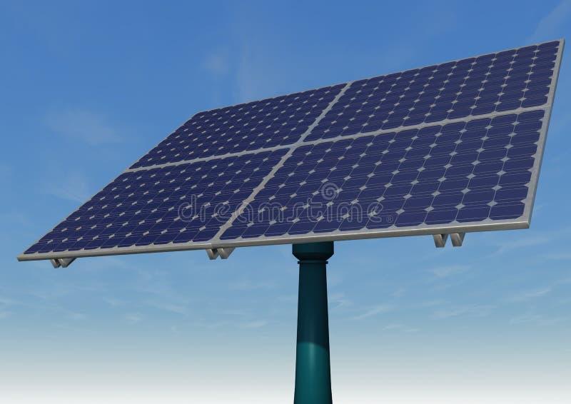 太阳电池板蓝天 库存例证