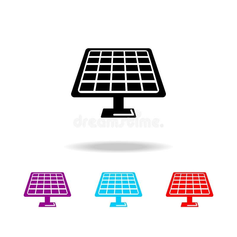 太阳电池板象 电的元素在多色的象的 优质质量图形设计象 网站的简单的象, w 皇族释放例证