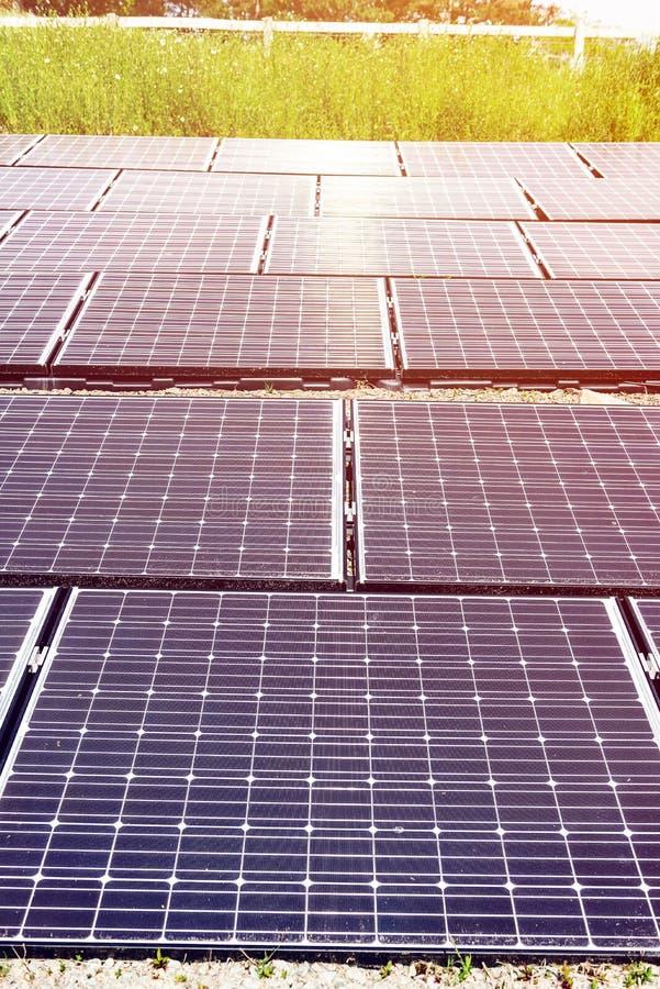 太阳电池板,供选择的电来源,金钱的力量, 库存图片