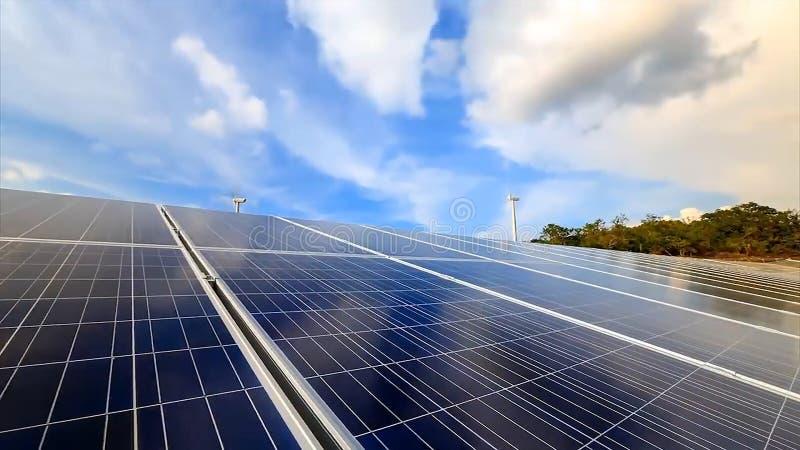 太阳电池板,光致电压,供选择的电来源-选择聚焦,拷贝空间 库存照片