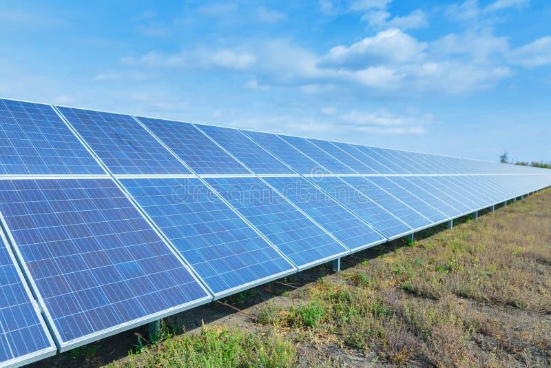 太阳电池板,环境光致电压,其来源f 库存图片